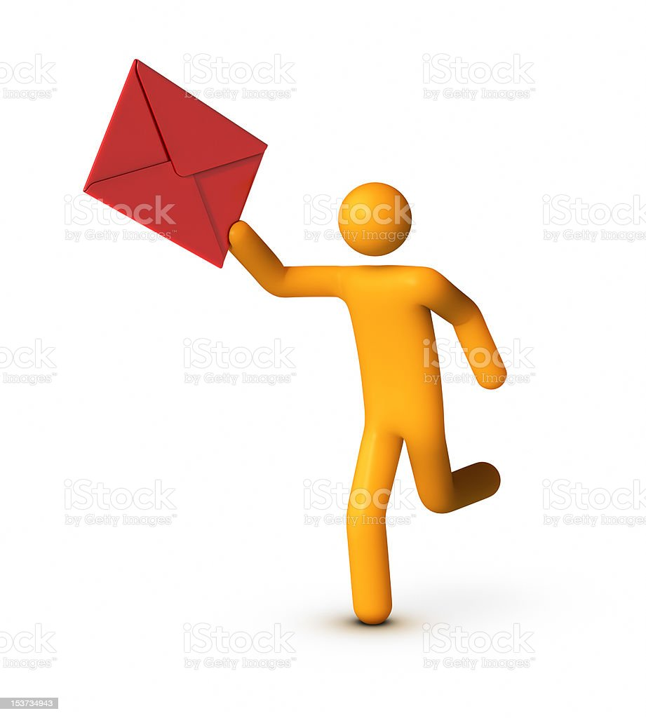 Delivering Envelope royalty-free stock photo