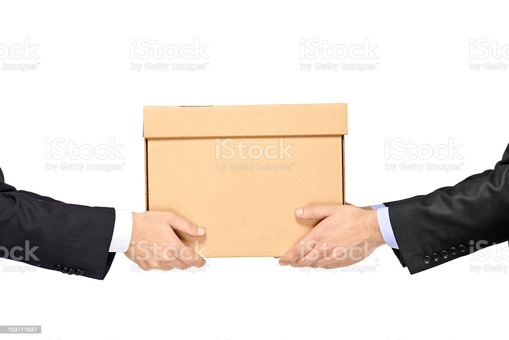Delivering package royalty-free stock photo