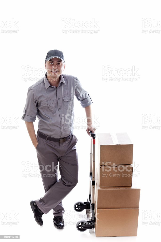 Delivering royalty-free stock photo