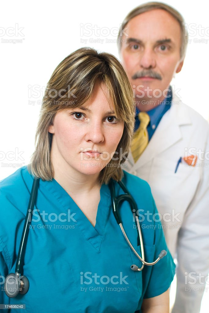 Delivering Sad News royalty-free stock photo