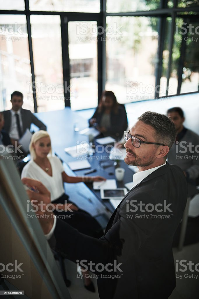 Delivering the facts stock photo