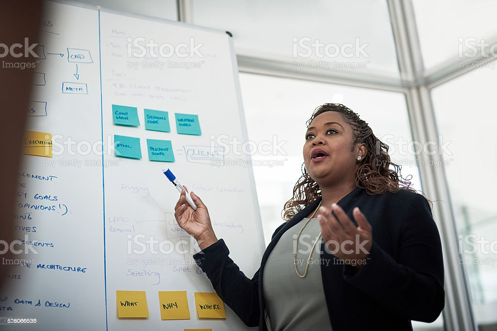 Delivering the perfect presentation stock photo