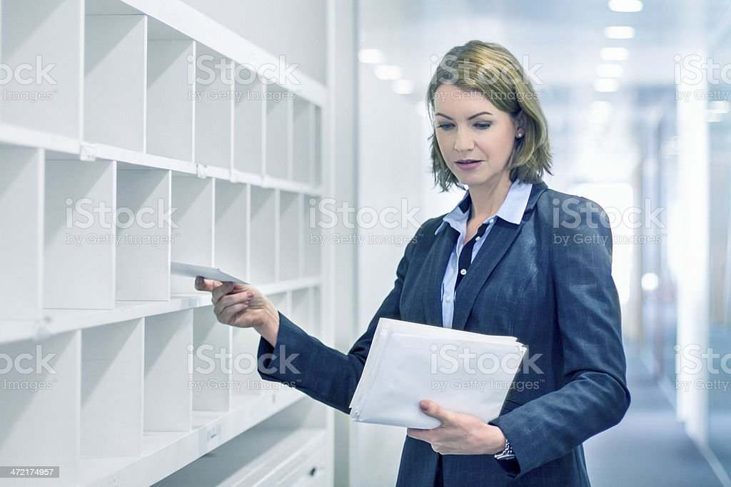 Delivering the post stock photo