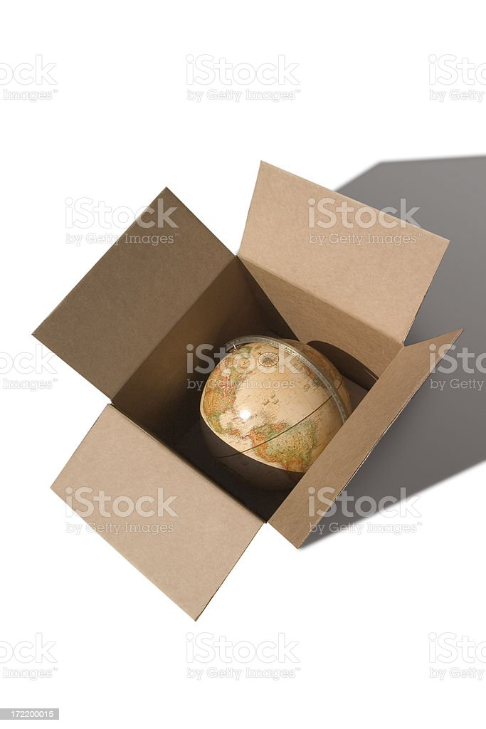 Delivering the World (with clipping path) royalty-free stock photo