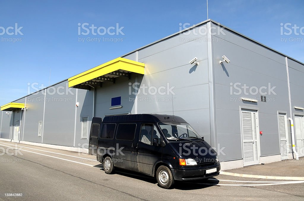 delivering to the warehouse royalty-free stock photo