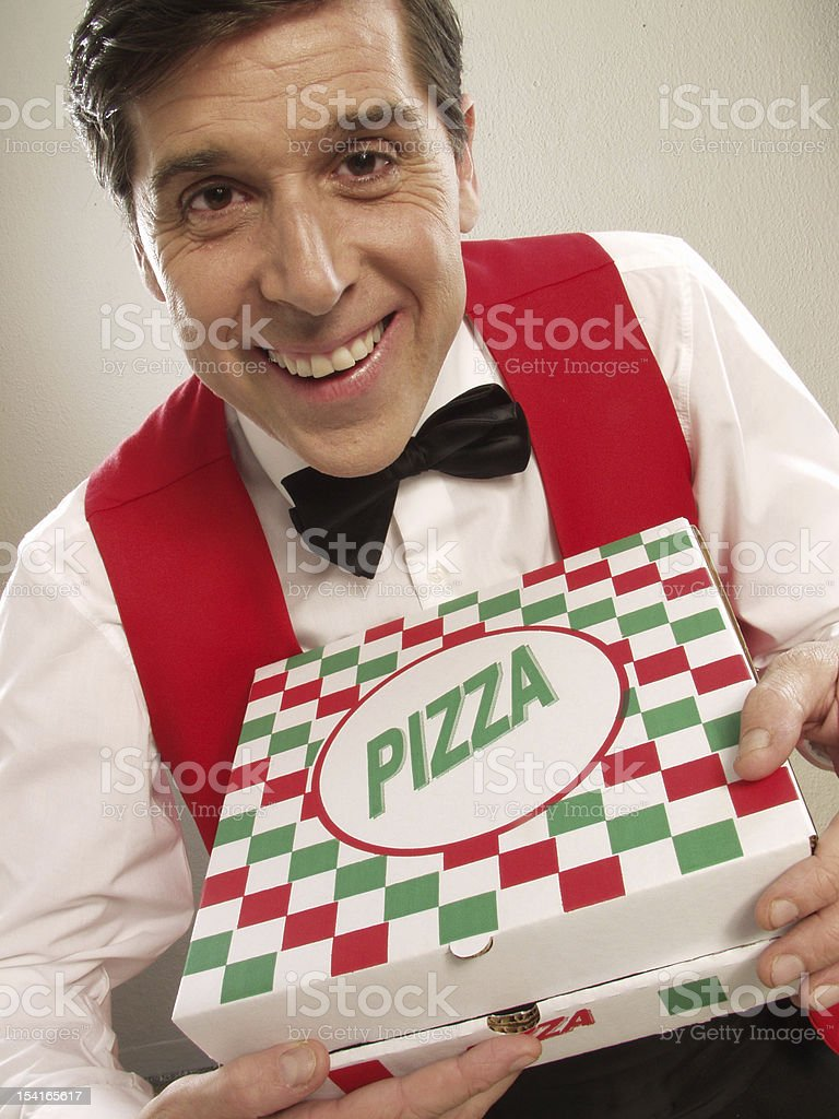 Delivering your pizza. royalty-free stock photo