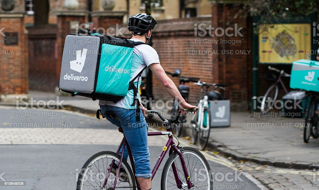Deliveroo Cyclist stock photo