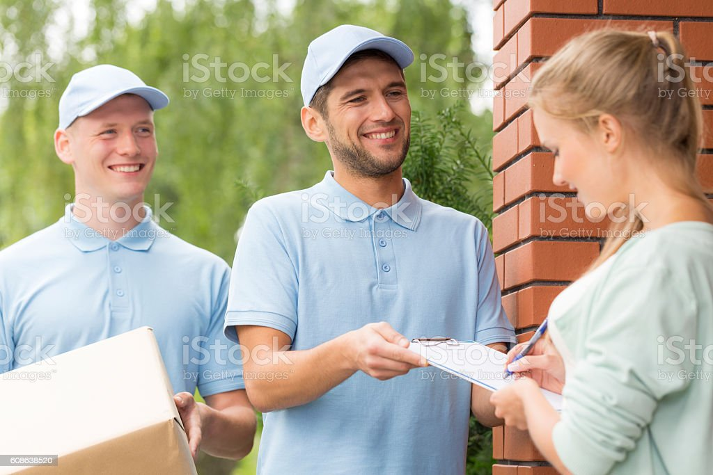Delivery always on time stock photo