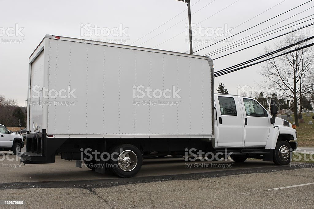 Delivery Box Truck stock photo