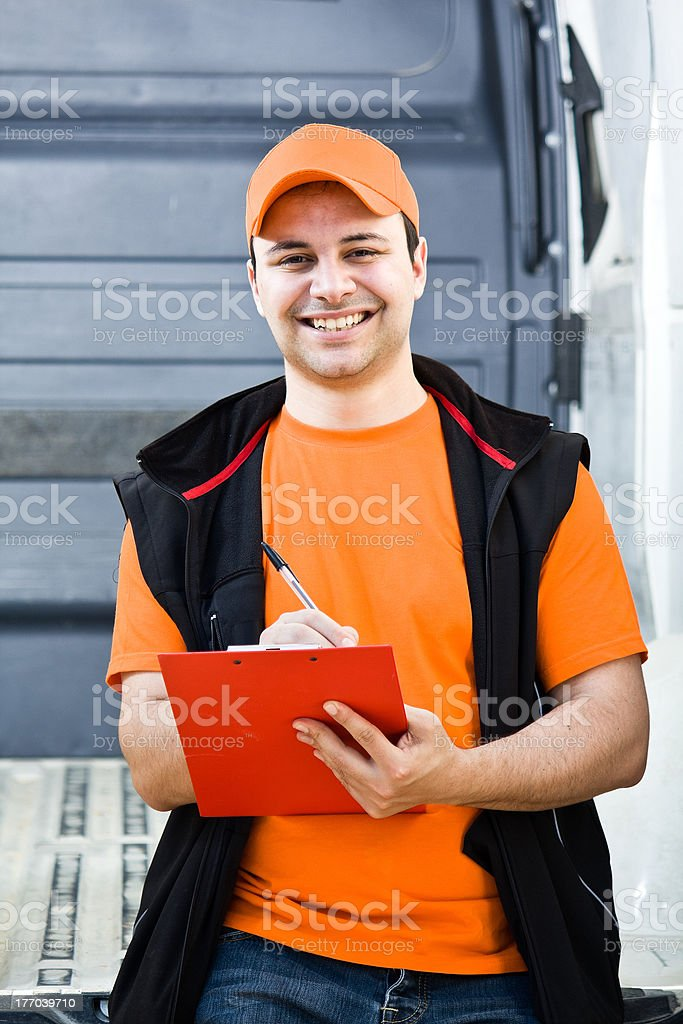 Delivery boy royalty-free stock photo