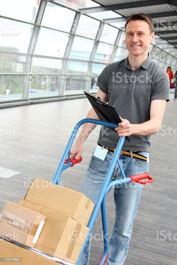 delivery boy series royalty-free stock photo