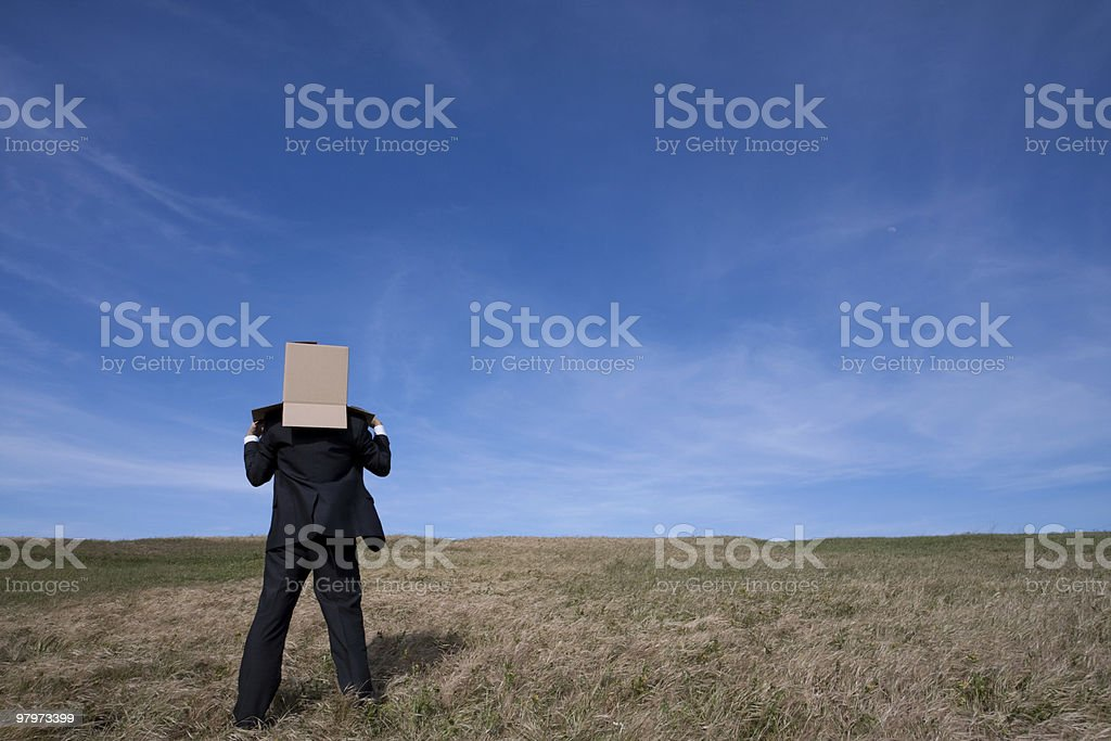 Delivery businessman royalty-free stock photo