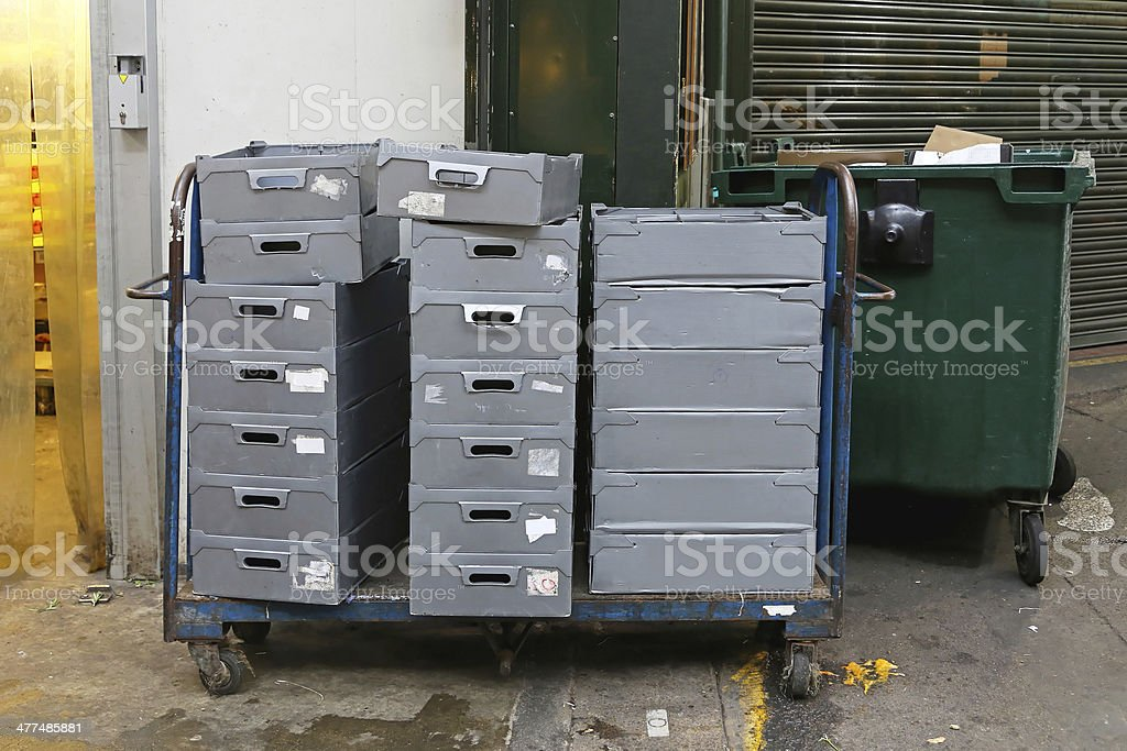 Delivery crates royalty-free stock photo
