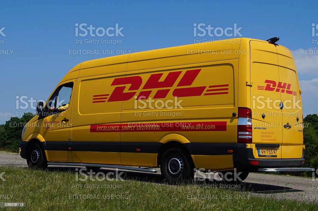 DHL delivery delivery van stock photo