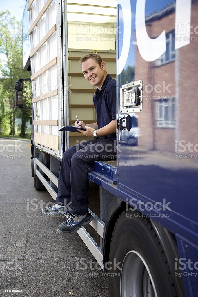 Delivery Driver... royalty-free stock photo