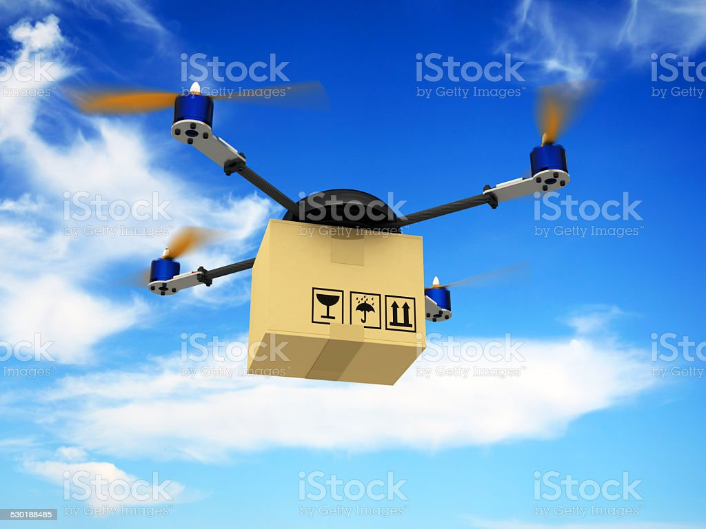 Delivery Drone stock photo