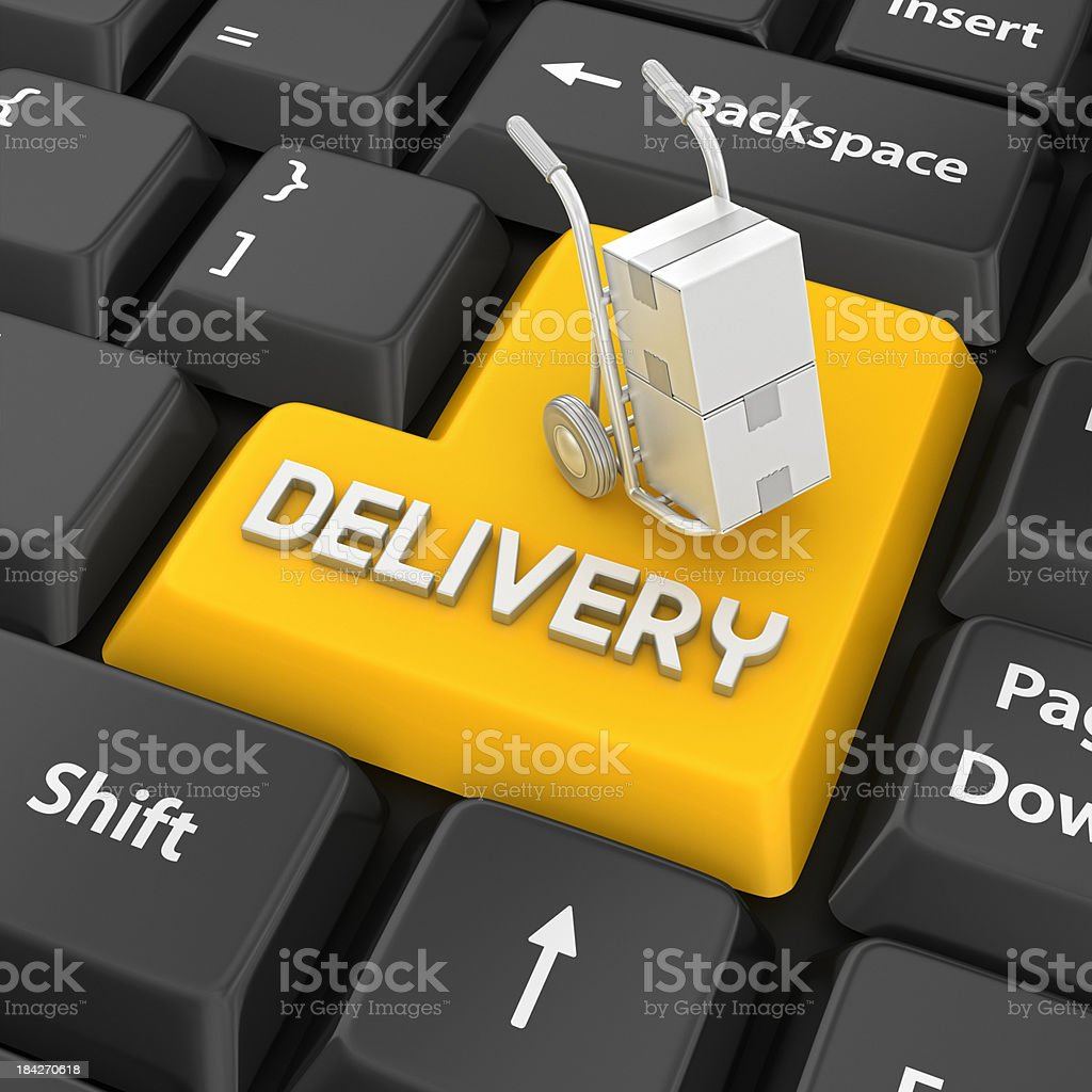 delivery enter key royalty-free stock photo