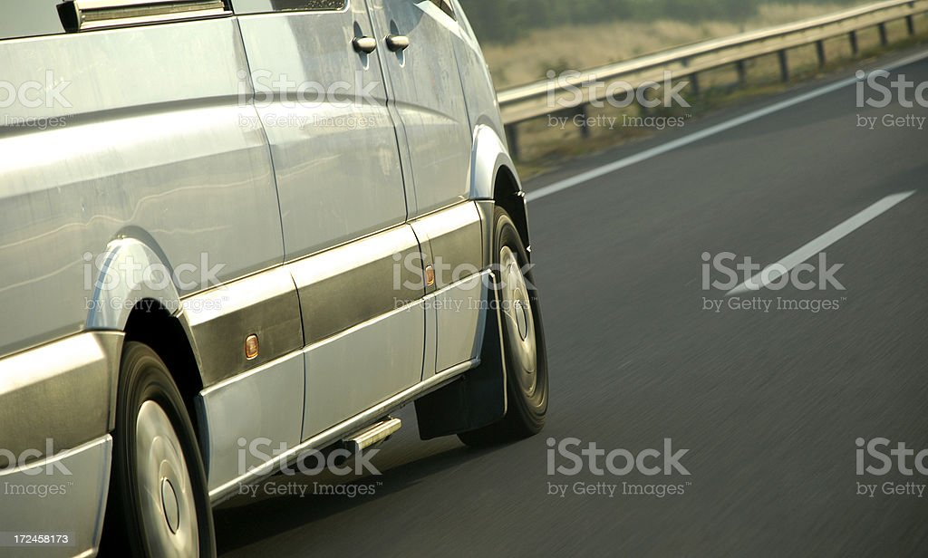 Delivery Fast Van On The Highway stock photo