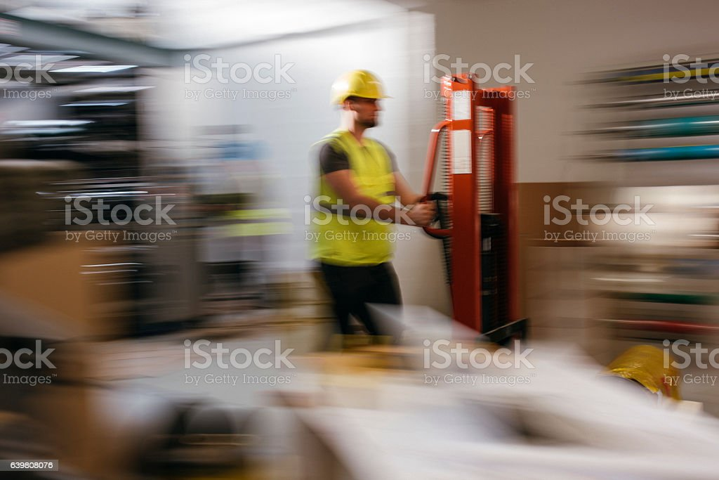 Delivery guy stock photo