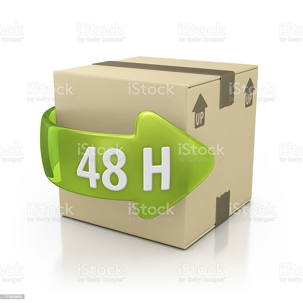 delivery in 48h royalty-free stock photo