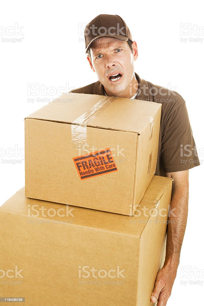 Delivery Man - Frustration royalty-free stock photo