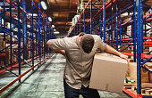 Delivery man having backache