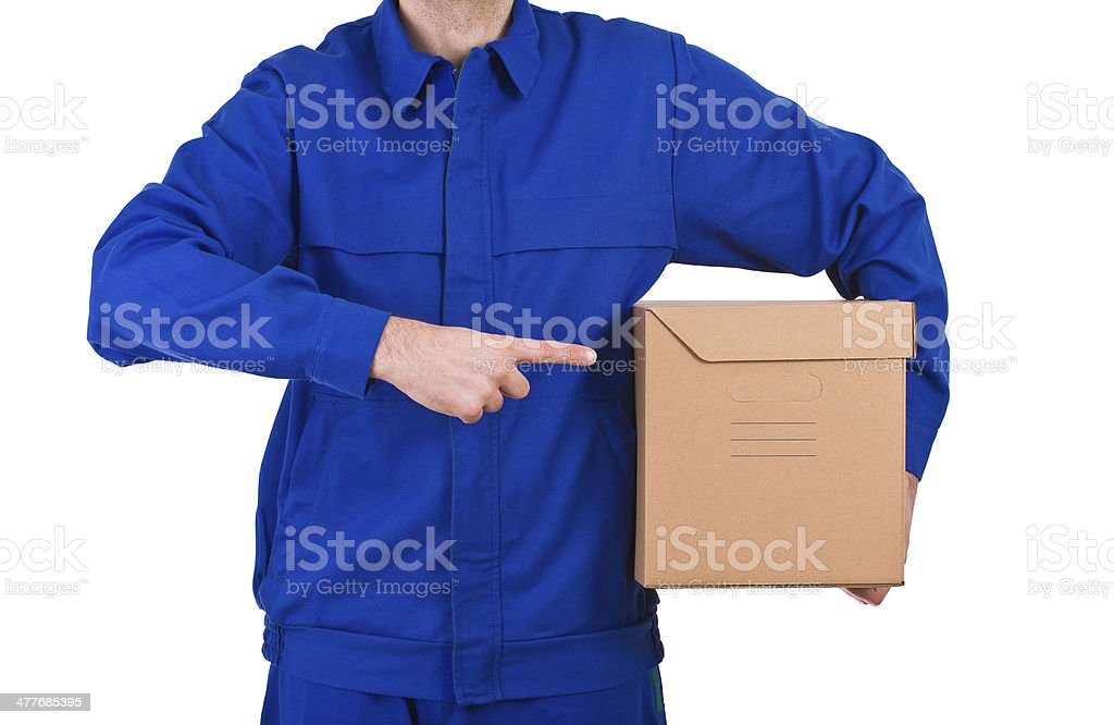 Delivery man. royalty-free stock photo