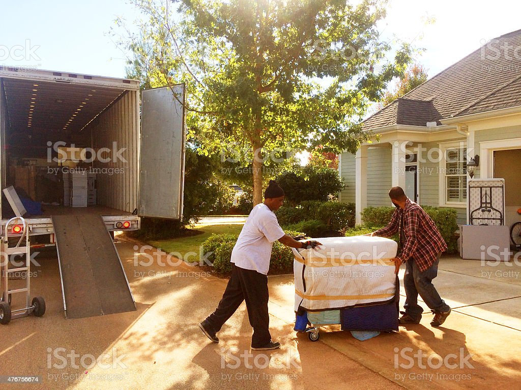Delivery Moving House stock photo