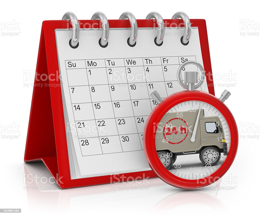 Delivery of Goods in 24 Hours stock photo