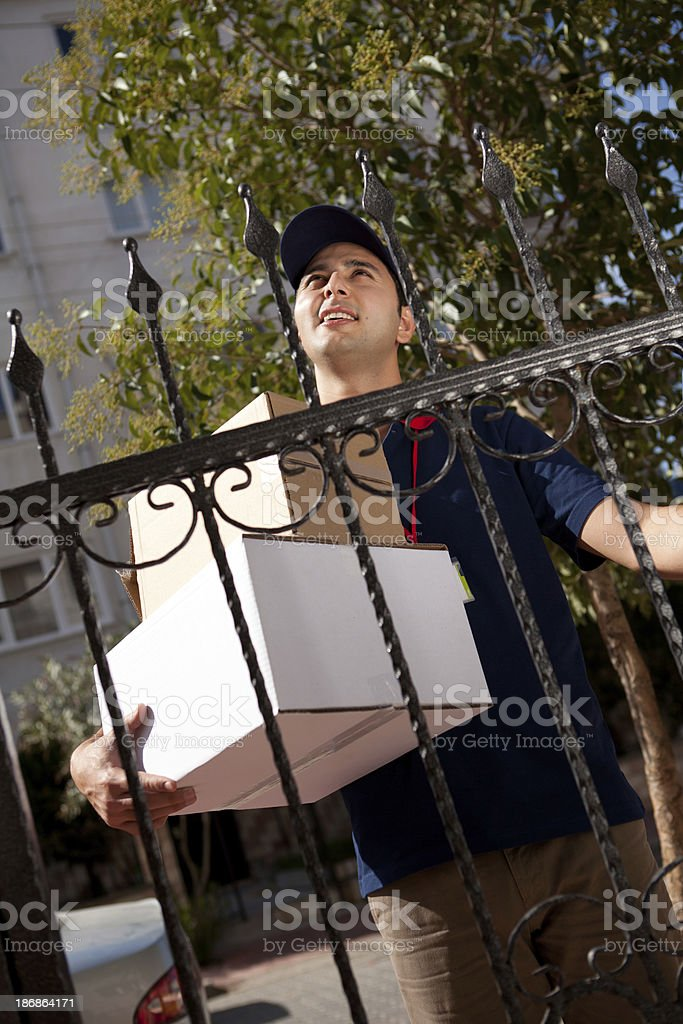 Delivery Person stock photo
