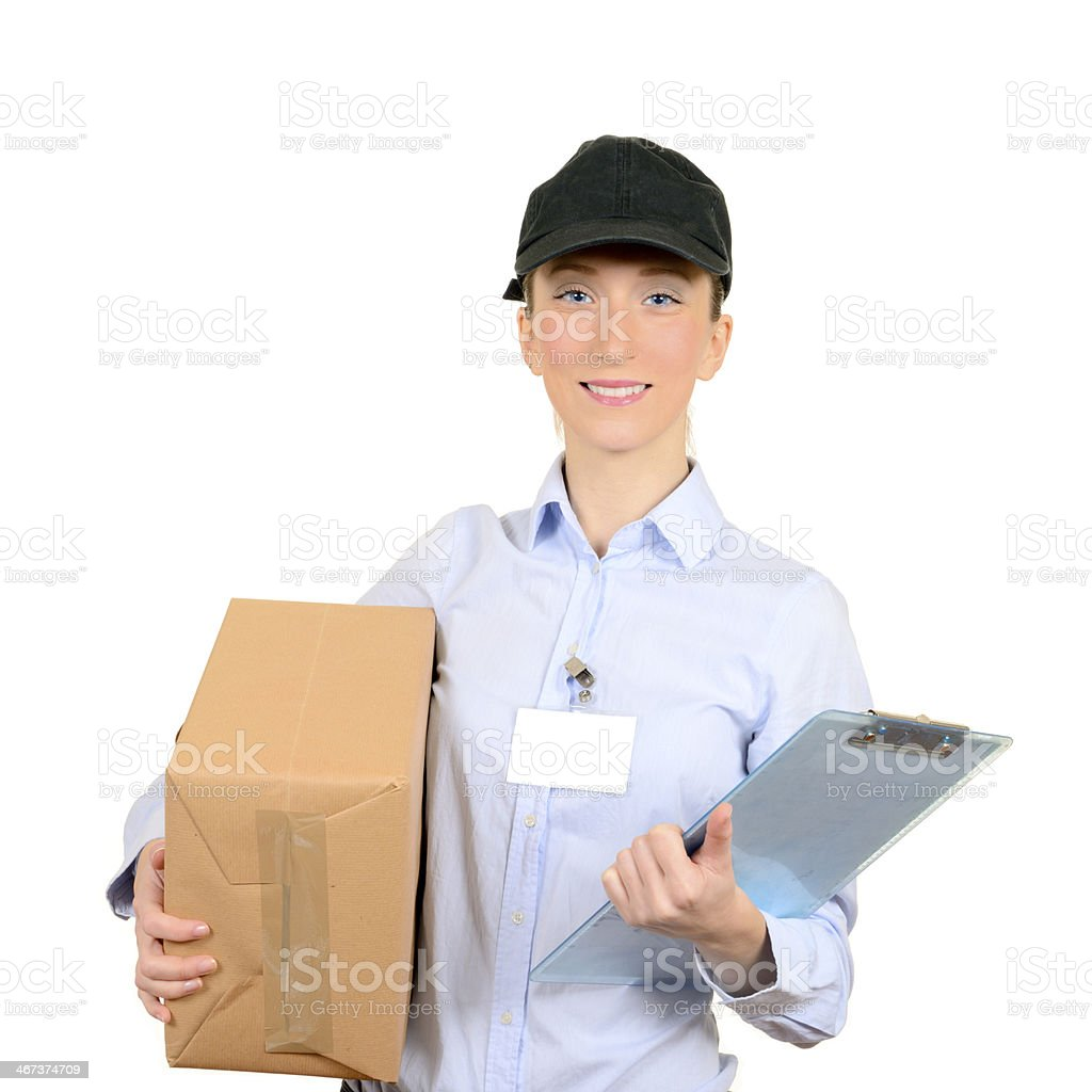 Delivery person royalty-free stock photo