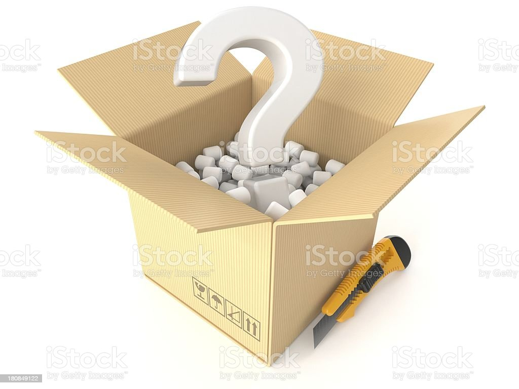Delivery problem royalty-free stock photo