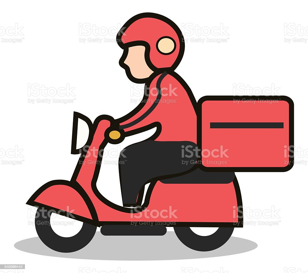 delivery scooter icon stock photo
