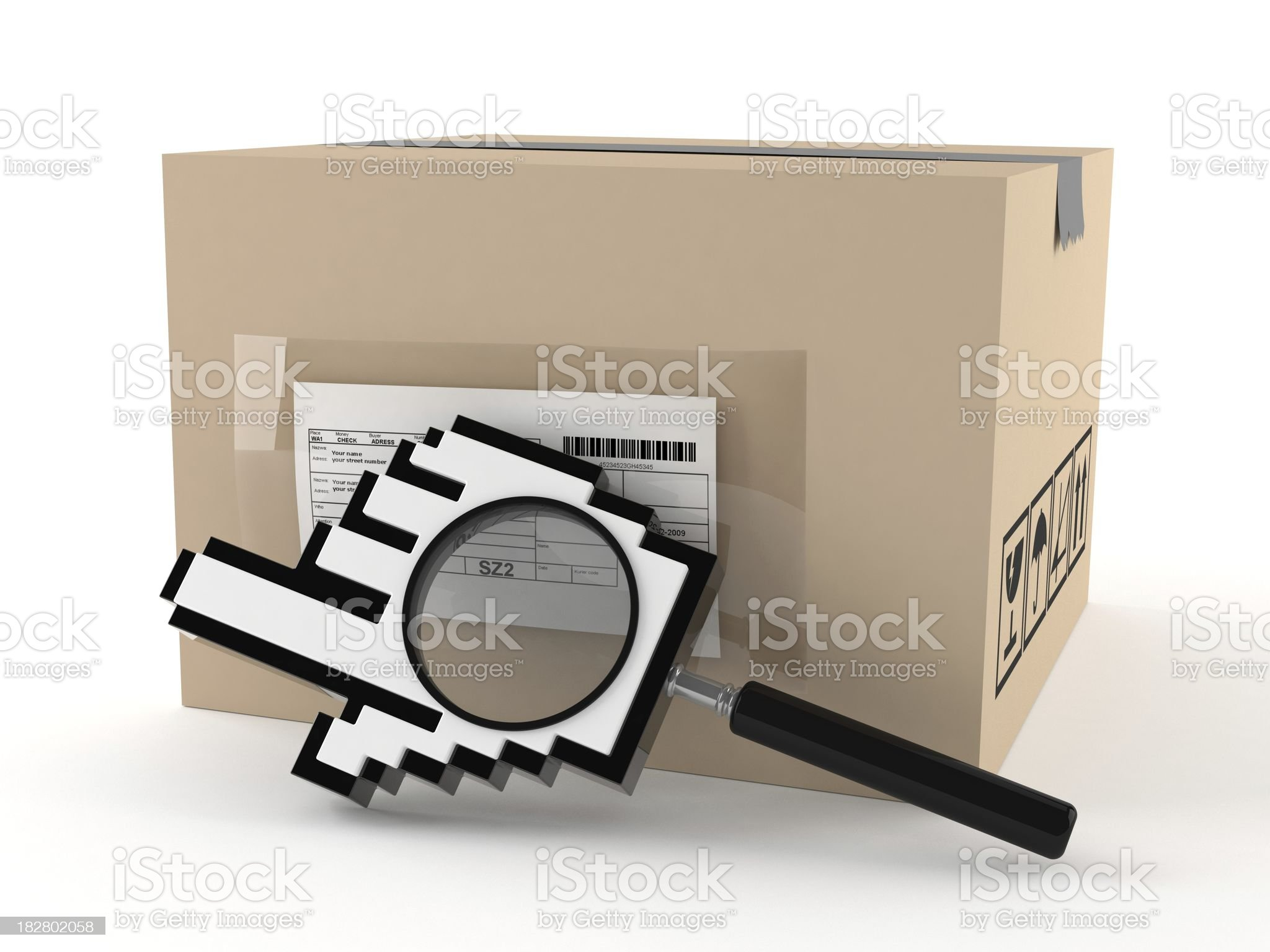 Delivery search royalty-free stock photo