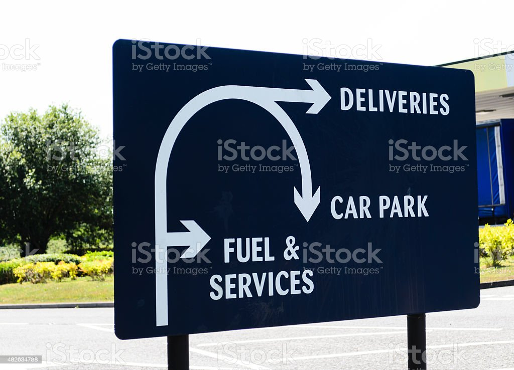 Delivery sign stock photo
