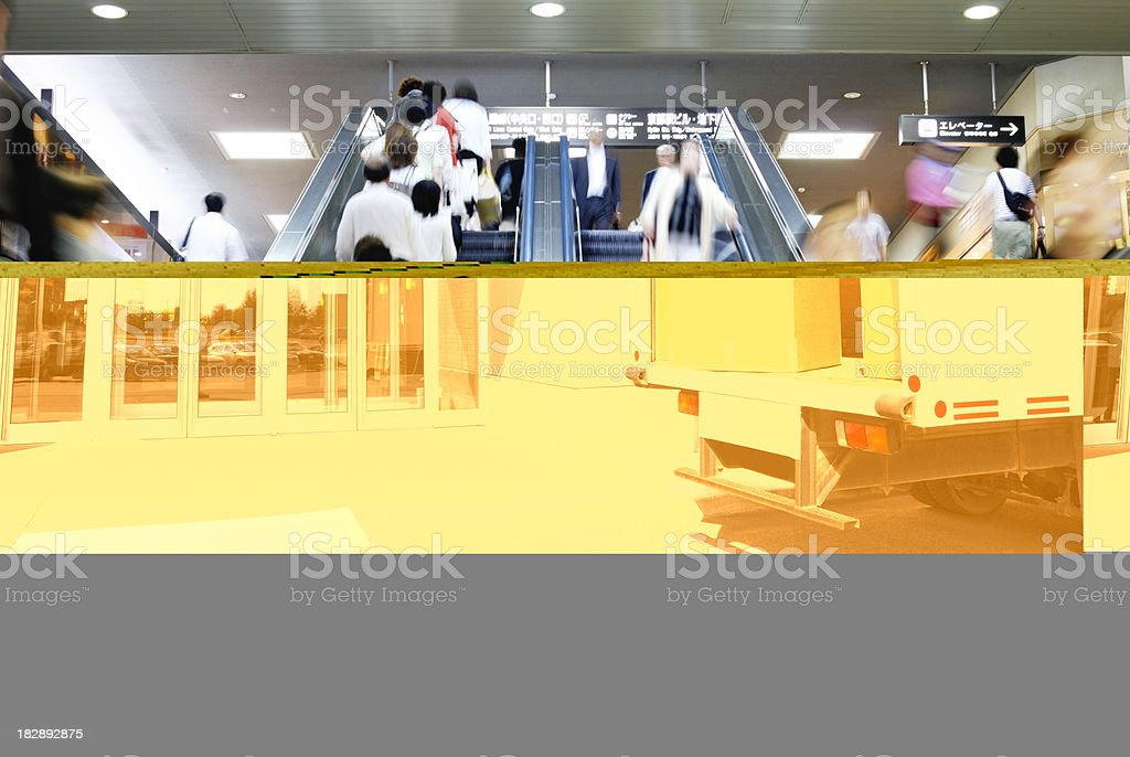 Delivery truck at door. royalty-free stock photo