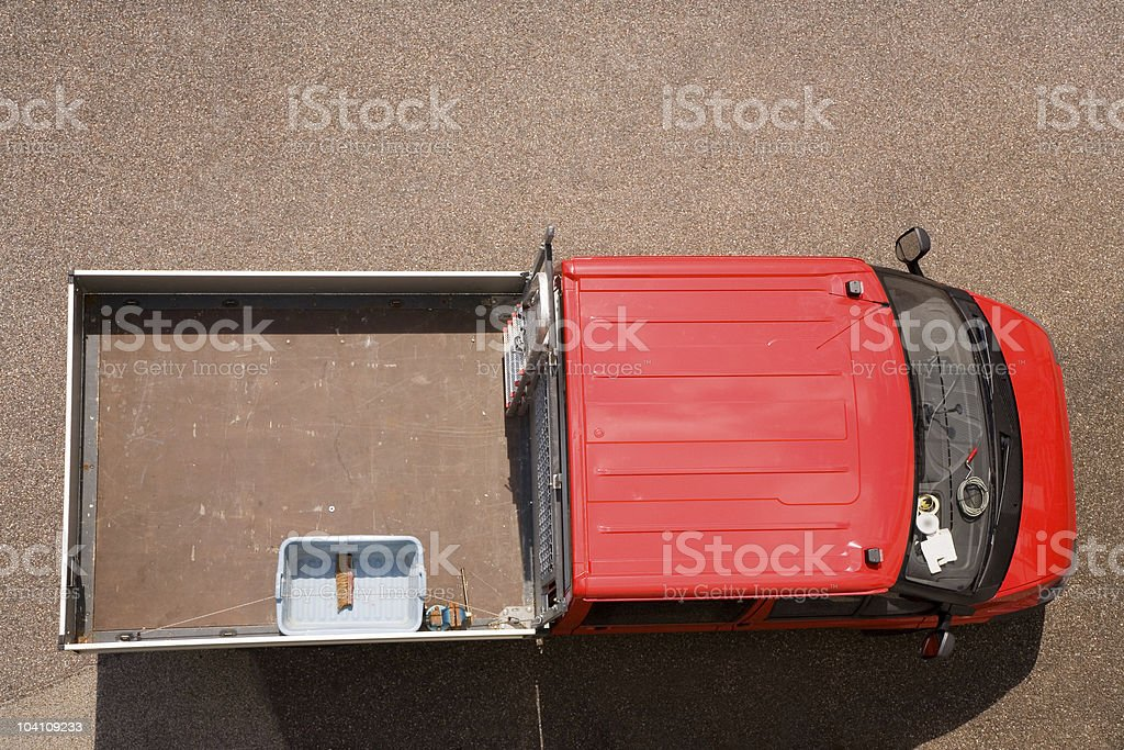 Delivery Truck, High Angle View royalty-free stock photo
