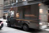 UPS delivery truck in Philadelphia, USA