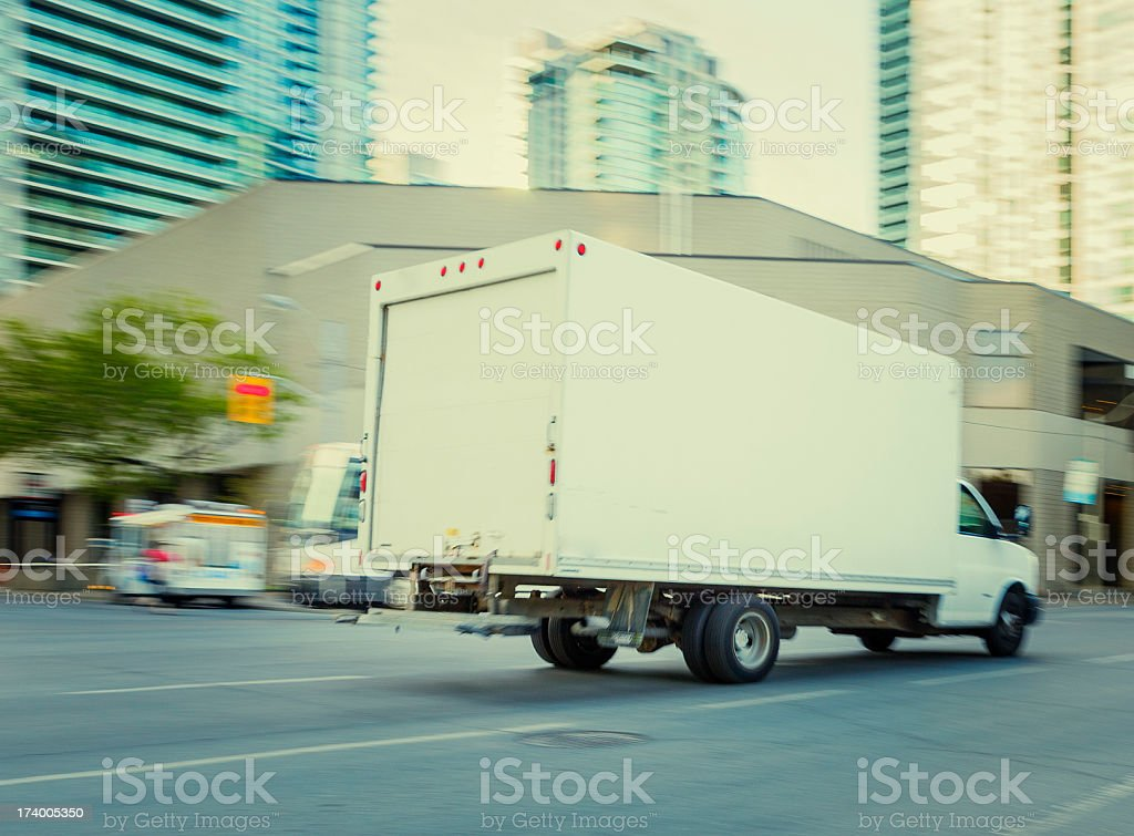 delivery truck in toronto stock photo