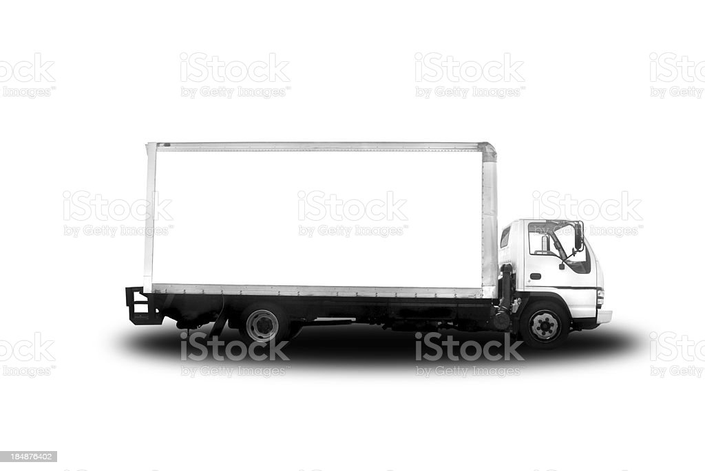 delivery truck; isolated on white royalty-free stock photo