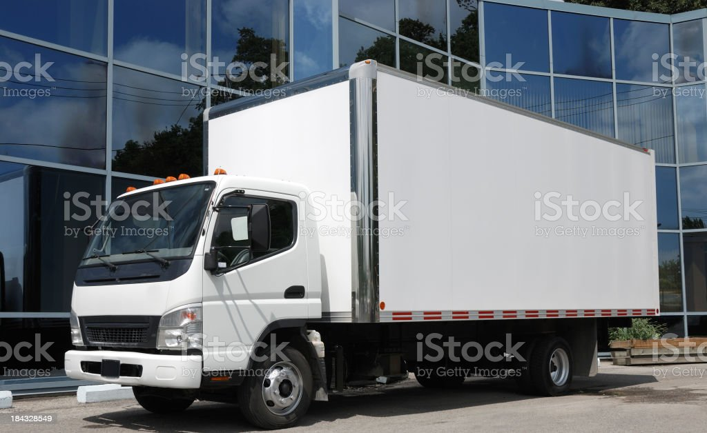 Delivery truck stock photo