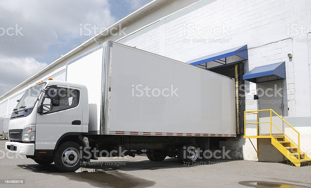 Delivery truck. stock photo