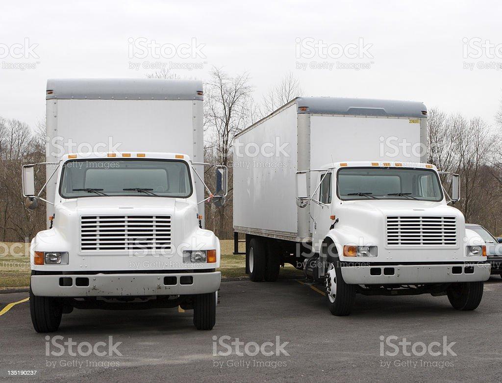 Delivery Trucks stock photo