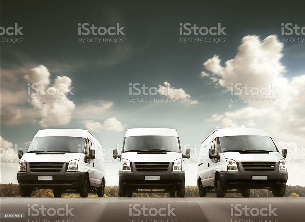 Delivery trucks stock photo