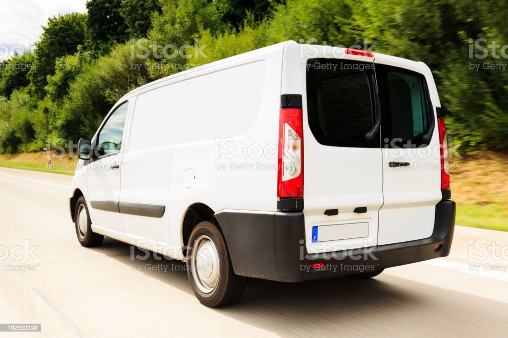 delivery van stock photo