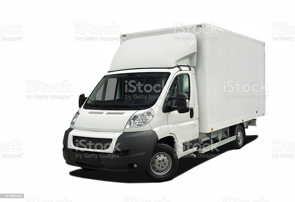 Delivery van stock photo
