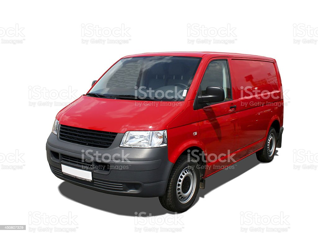Delivery van royalty-free stock photo