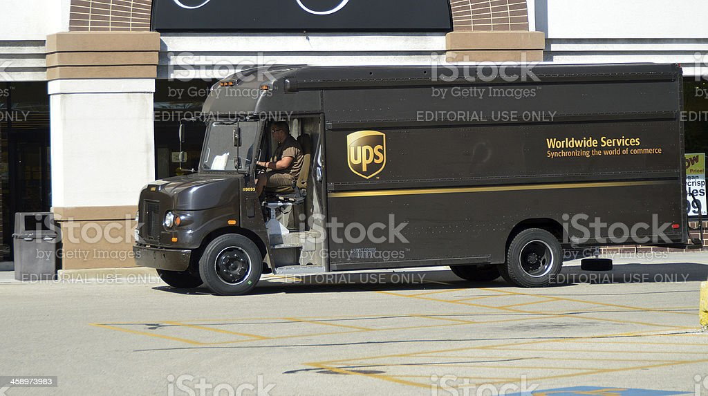 UPS Delivery Van royalty-free stock photo