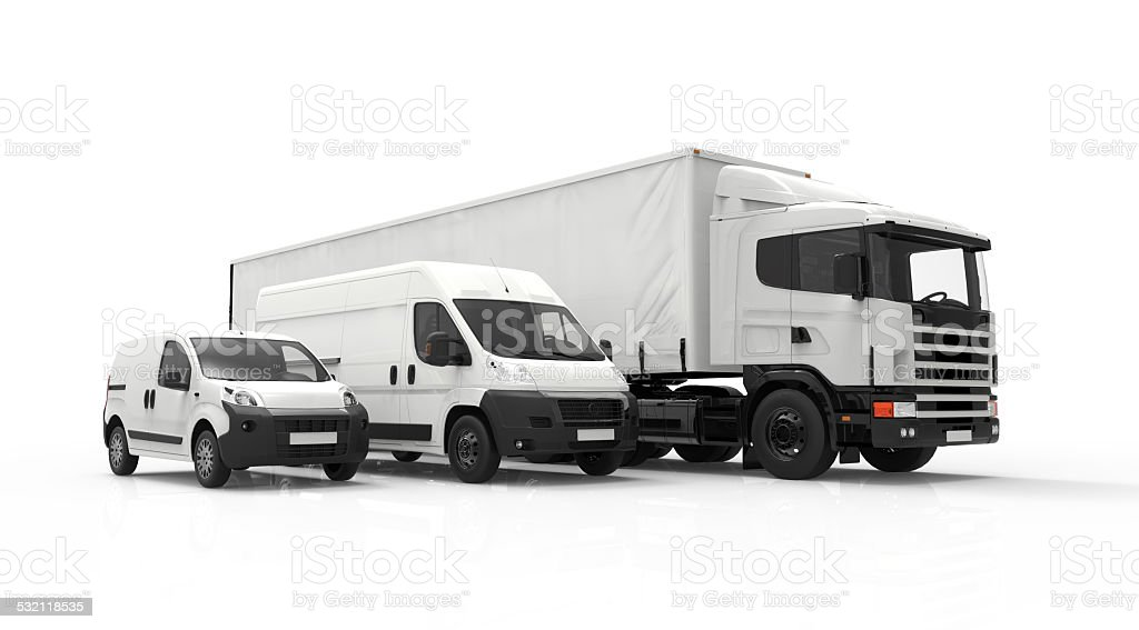 Delivery vehicles stock photo