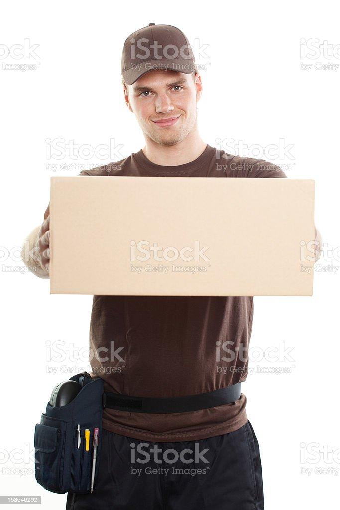 deliveryman stock photo